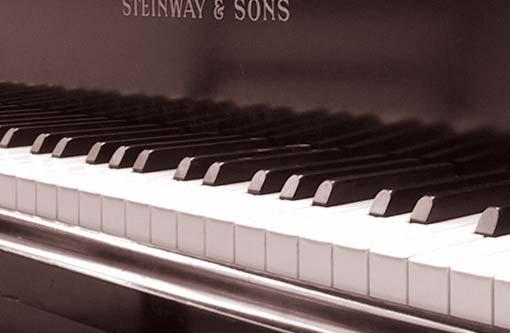 vue de profil d'un clavier waterfall, pareil à un clavier de piano